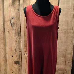 Eileen Fisher wool long maxi rust colored size med